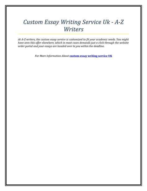 Essay Custom Writing by Custom Essay Writing Service Uk A Z Writers By David Clark Issuu