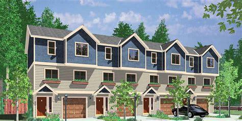 4 plex house plans 4 plex plan townhouse plan 4 unit apartment quadplex f 539