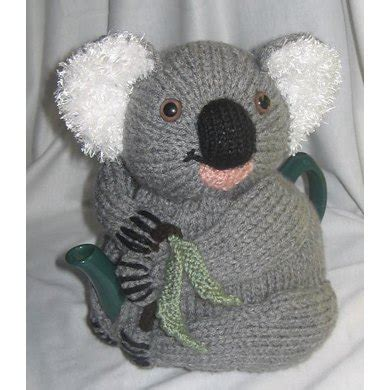 Cozy Koala koala tea cosy knitting pattern by rian