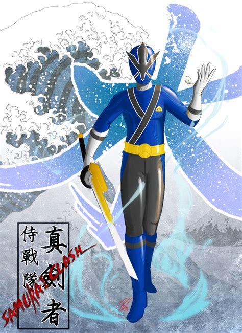 painting of power rangers samurai samurai blue by the newkid on deviantart