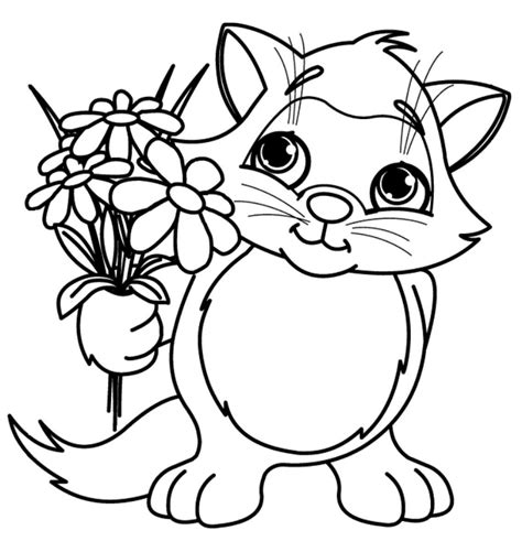 Cute Spring Flower Coloring Page Springtime Coloring Pages