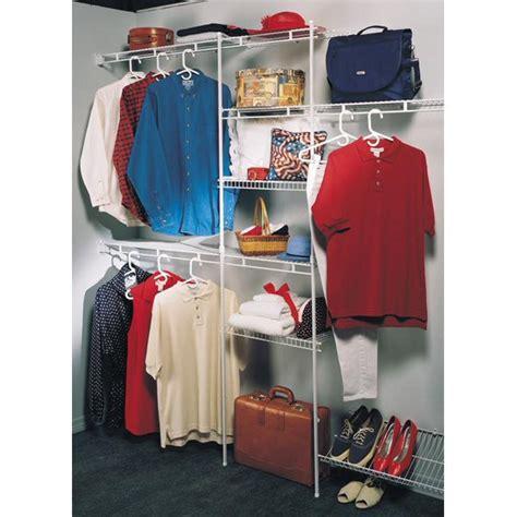 closetmaid closet organizer kit with shoe shelf 5 to 8