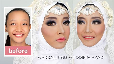 tutorial make up artis wardah tutorial makeup dan hijab pengantin muslim akad