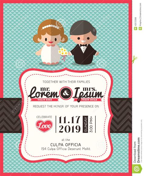 Married Card Template by Wedding Invite Card Template With Groom And