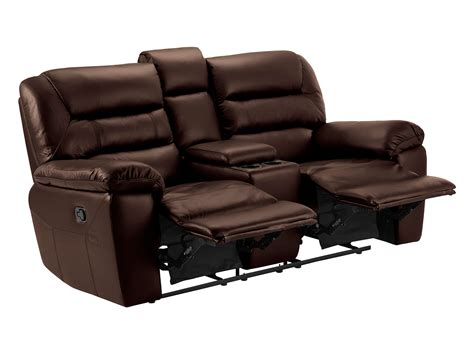 brown leather sectional with recliners devon small sofa with manual recliners 2 tone brown leather