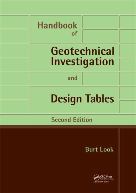 handbook of environments design implementation and applications second edition human factors and ergonomics books handbook of geotechnical investigation and design tables