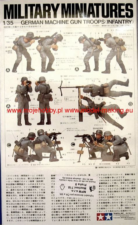 Mokit German Machine Gun Troops Infantry 1 35 german machine gun troops tamiya 35038