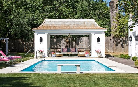 backyard pool house 25 pool houses to complete your dream backyard retreat