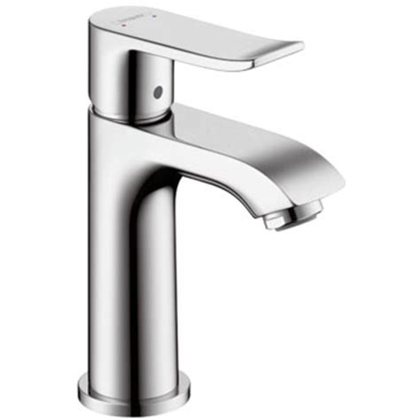 brushed chrome bathroom faucets hansgrohe 31088821 metris 100 single hole lavatory faucet