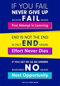 Quote Stickers For Wall quot f a i l first attempt in learning quot posters by