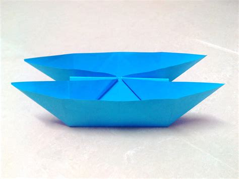 Origami Catamaran - how to make an origami catamaran boat step by step