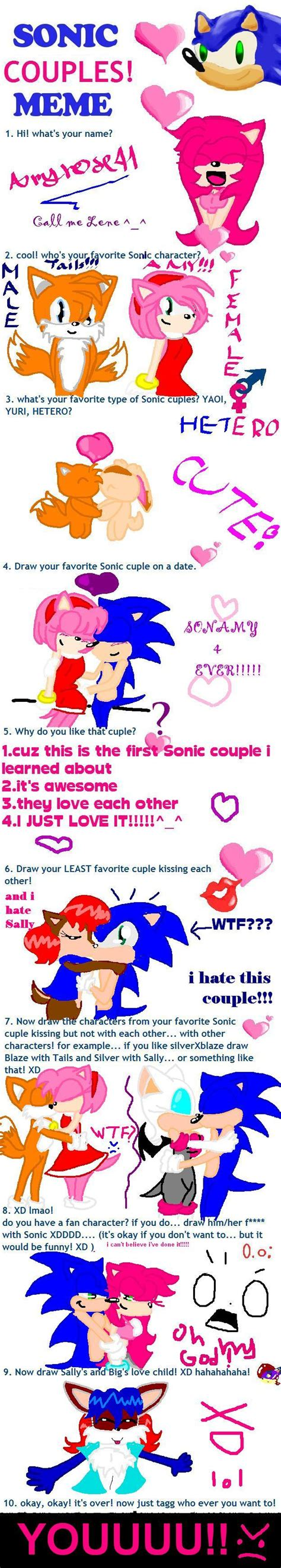 Sonic Couples Meme - art sonic couples meme by amyrose41 on deviantart