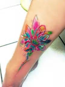 color flower tattoos amazing watercolor flower pairodicetattoos