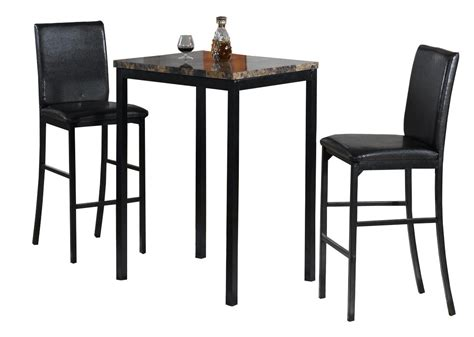 Counter Height Bistro Table Home Source Faux Marble Counter Height Bistro Table W Two Chairs By Oj Commerce 12935 267 99