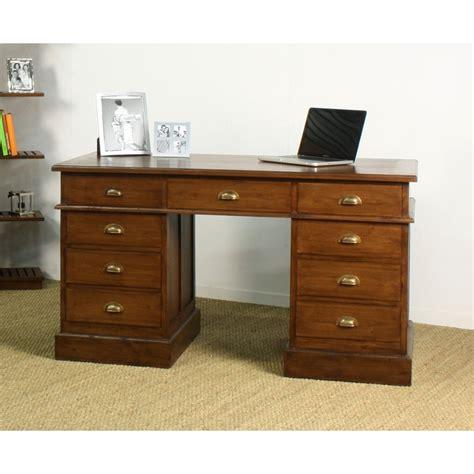 bureau teck bureau ministre in line en teck en vente chez origin s meubles