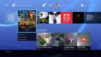 live home screen new ps4 user interface posted videogamer