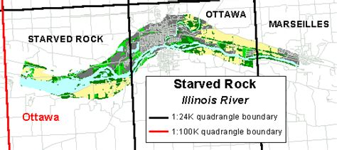 starved rock map gis data starved rock reach illinois river