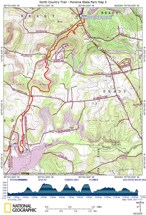 park trail map nct in pa moraine state park