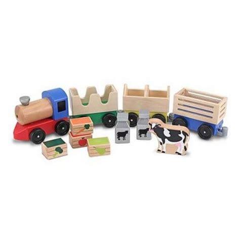 Three Small Trains Wood Toys doug farm wooden preschool at toystop
