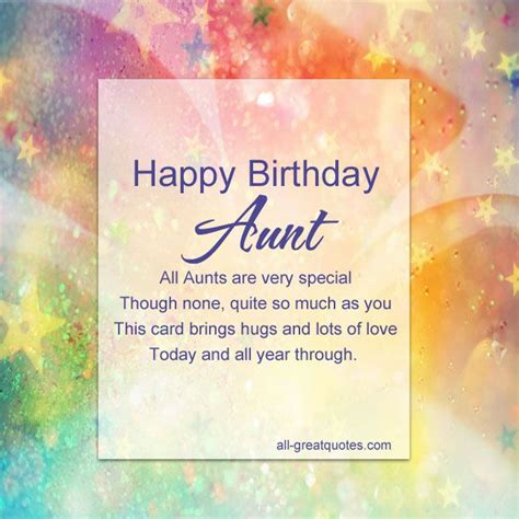 card and quotes the 25 best happy birthday auntie ideas on
