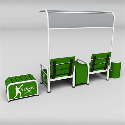 tennis court bench tennis court bench chair by kr3atura 3docean