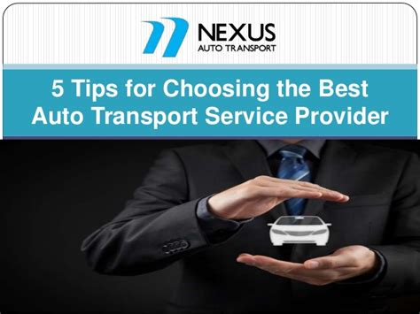 5 tips for choosing the best auto transport service provider