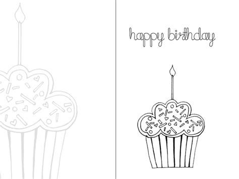 free printable card templates to colour day 5 printable happy birthday colouring card tarjeta