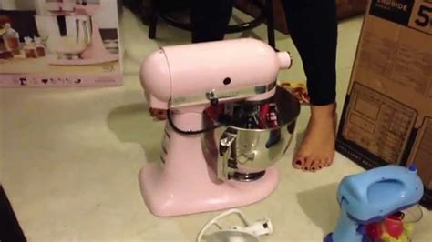 KitchenAid stand mixer unboxing (pink)   YouTube