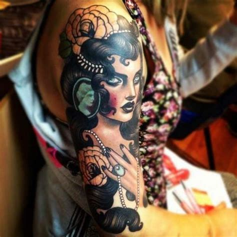 gypsy girl tattoo design 55 beautiful tattoos for those forever wandering