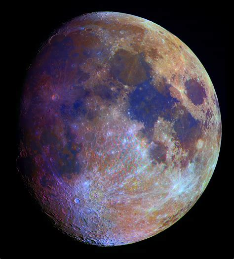 colors of the moon space station moon lunar lights on a hollow moon
