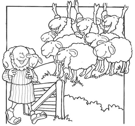 coloring page jesus with sheep 172 best images about biblia pintar on pinterest