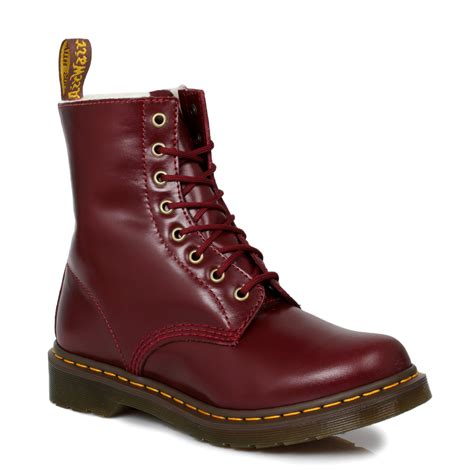 docs boots dr martens ankle boots serena womens docs leather lace up