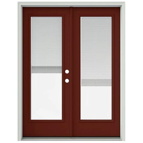 inswing patio door jeld wen 60 in x 80 in mesa prehung left
