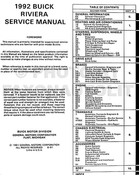 how to download repair manuals 1992 buick regal electronic valve timing 1992 buick riviera repair shop manual original