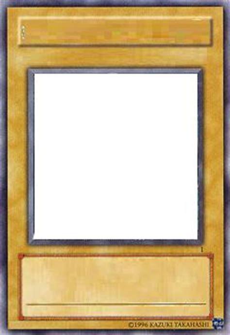 blank yugioh card template card blanks