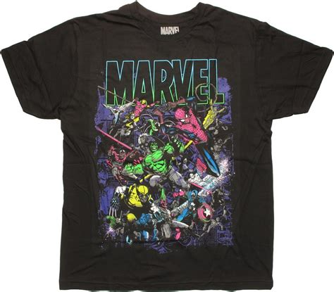 T Shirt Crossover Merch Hearts marvel neon name t shirt