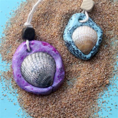 how to make seashell jewelry seashell necklace an easy clay jewelry craft and