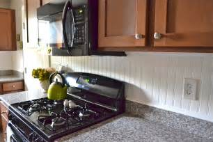 Beadboard Kitchen Backsplash by Liz Marie Beadboard Backsplash