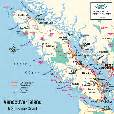 vancouver island map vancouver island cities