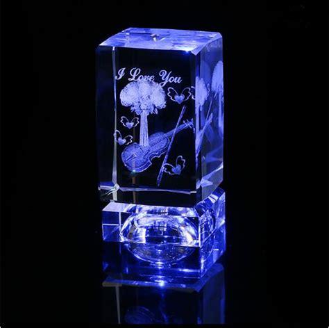 laser engraved crystal with lighted led base crystal laser cubes with led light base view crystal laser