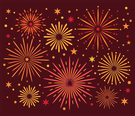 colorful fireworks vector   vectors clipart