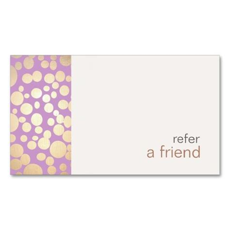 Refer A Friend Card Template Free by Modern And Hip Gold Refer A Friend Coupon Salon