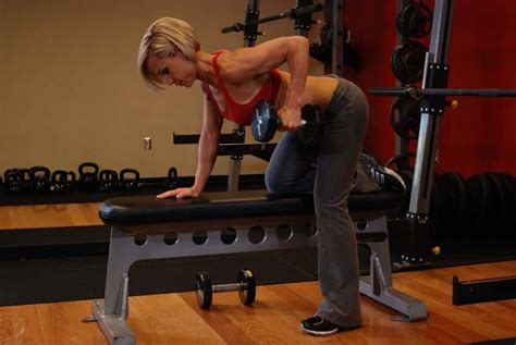 one arm bench one arm dumbbell row exercise guide and video