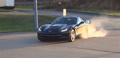 corvette burnout bad this might be the best corvette stingray burnout yet gm
