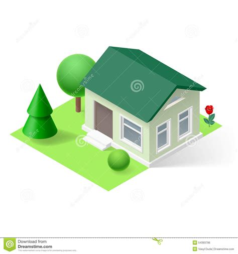 isometric home stock vector image 54393796