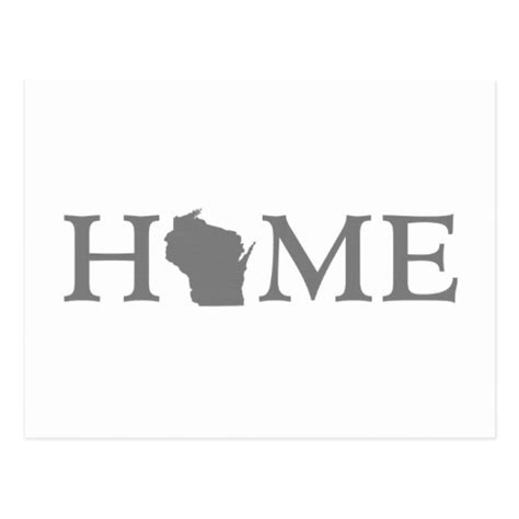 wisconsin home state postcard zazzle