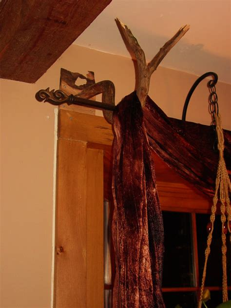 curtain rods that bend items similar to deep bend rustic branch curtain rod