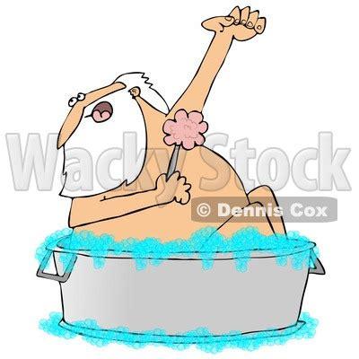 boat wash cartoon royalty free rf clipart illustration of santa using a