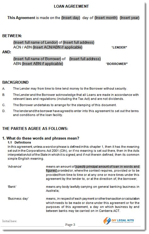 directors loan to company agreement template directors loan agreement free template division 7a div7a