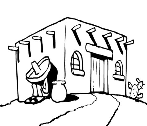 pueblo house coloring page all creations